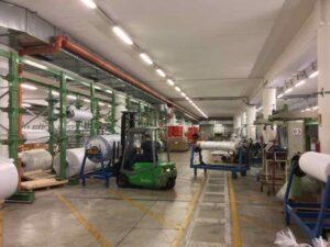 Albino BG: mitigazione Radon complesso industriale impianti depressurizzazione - Interno struttura