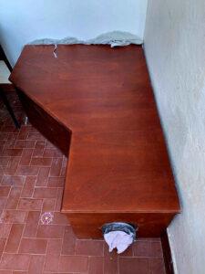 Mitigazione edificio residenziale: dettaglio copertura linea interna depressurizzazione terreno: fasce finale - Ischia, Napoli