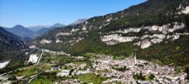 Piana di Fonzaso: vista aerea - Created By Dji Camera