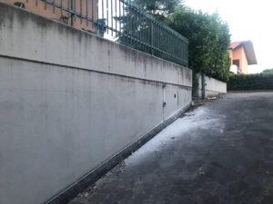 Mitigazione Radon: dettaglio esterno edificio - Bonate Sopra, Bergamo