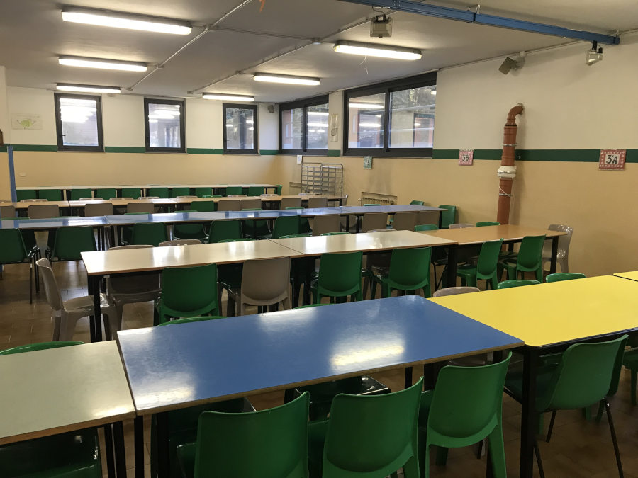 Scuola a Boffalora - Tubo depressurizzazione Radon scoperto