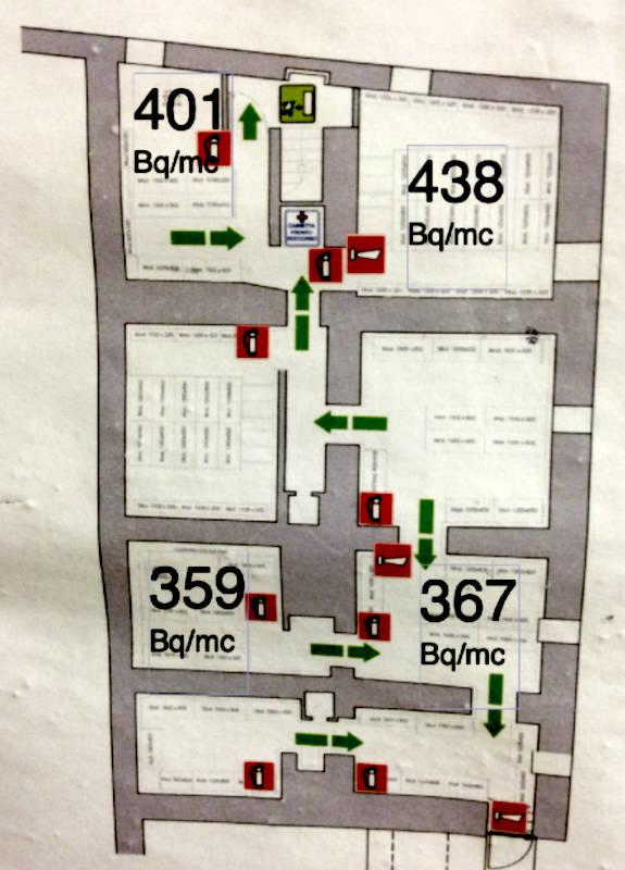 Mappa magazzino negozio per diagnosi Radon - Roma